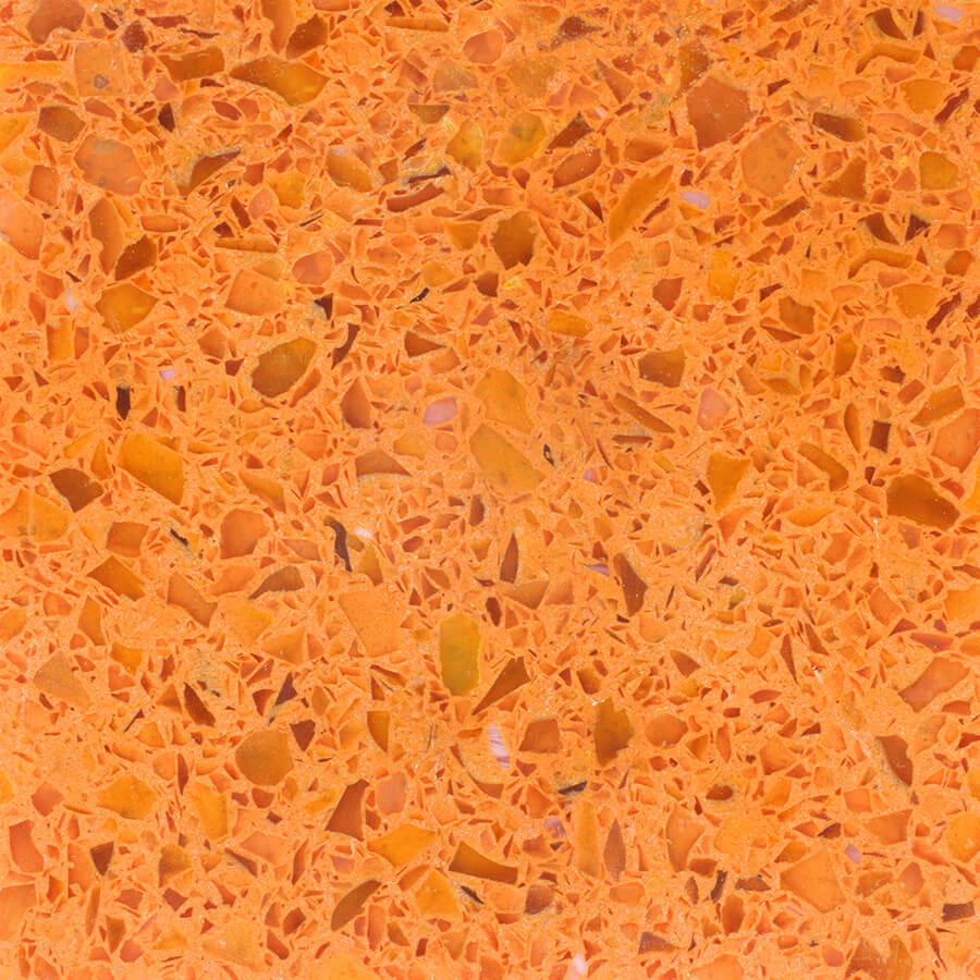Orange And Yellow Terrazzo Rosa Mosaic