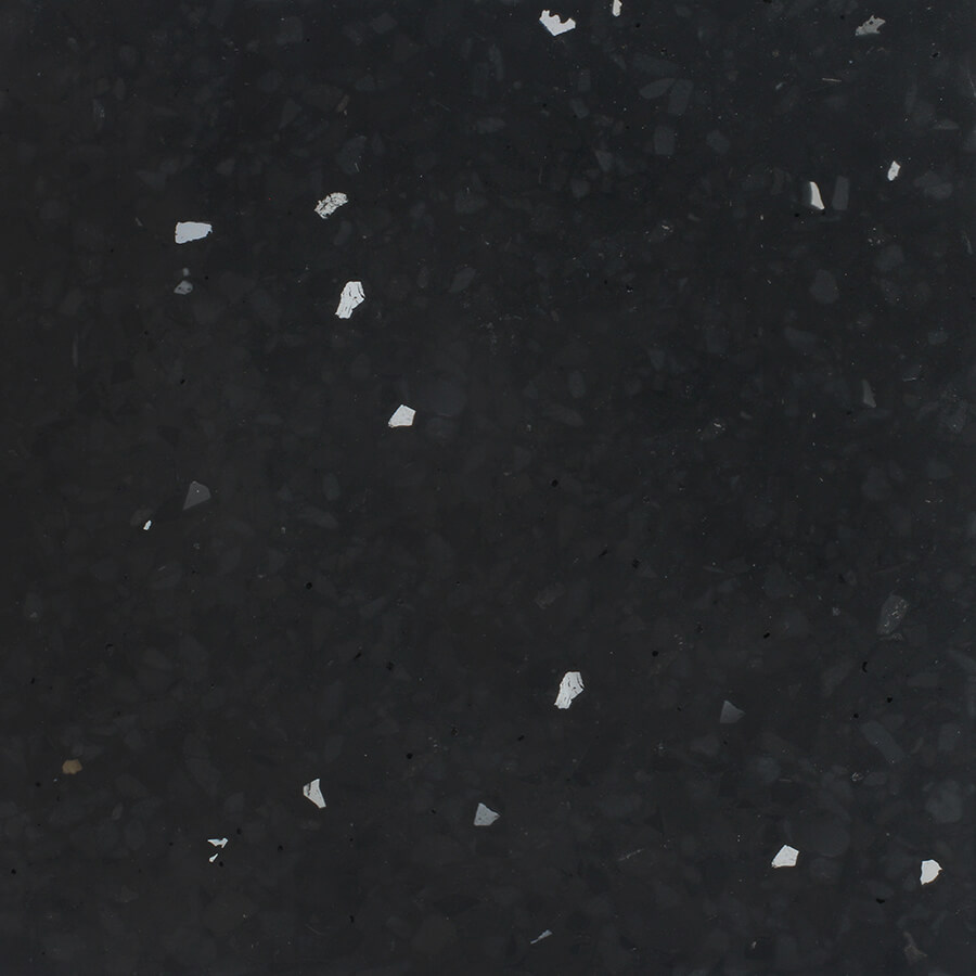 Black And White Bathroom: Black And Grey Terrazzo